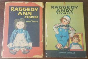 ***Rare Find*** Antique Raggedy Ann Stories (1918) and Raggedy Andy Stories (1920) illustrated books in original boxes as shown. Definitely a must see!! **You are bidding by the piece**