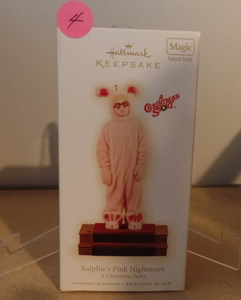 HALLMARK KEEPSAKE ORNAMENT - A CHRISTMAS STORY (RALPHIE'S PINK NIGHTMARE)