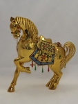 Gold plated decorative horse Hand made in Bangkok, Thailand