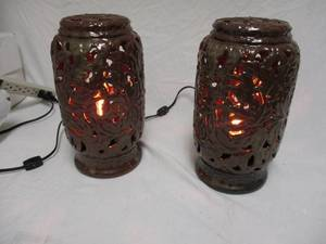 2-Large -Scent Savvy Electric Lumine Stoneware Fragrancer.