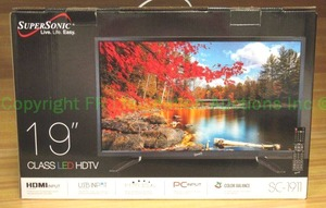 "SuperSonic 19"" SC-1911 LED HDTV in original packaging"