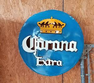 "21"" Metal Bottle Cap Corona Beer Sign"