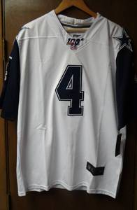 DAK PRESCOTT NFL 100th Anniversary Players Jersey - Dallas Cowboys - Size Large