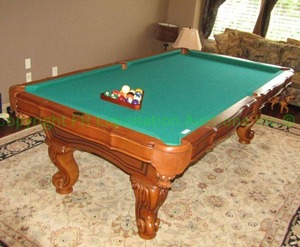 Southern Legacy Billiard table, solid oak wood, includes billiard balls. Matches lot 159