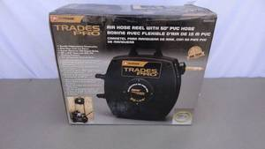 Trades Pro air hose reel with hose