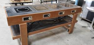 "Spring USA Model SM-181R Max Induction Cook Range  (W76"" x D24"" x H34"" approx.) Great for events or buffets works with Chafing dishes Lots 529-531"