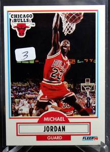 1990-91 Fleer Michael Jordan Card #26 Chicago Bulls
