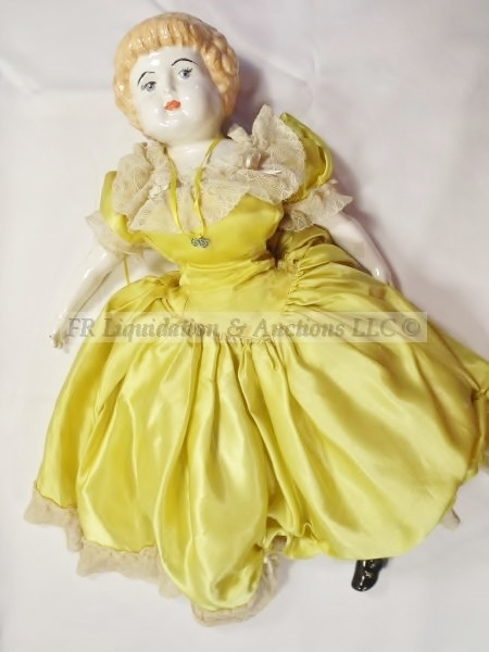 Antique late 1800's porcelain topped doll | 40 YEAR ESTATE