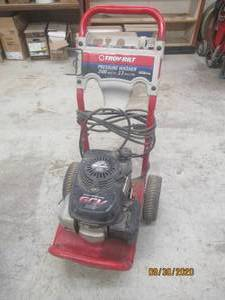 TROY- BILT  PRESSURE WASHER POWERED BY HONDA  020296   2500 MAX PSI   2.3 MAX GPM  OVER HEAD CAM GCV 160