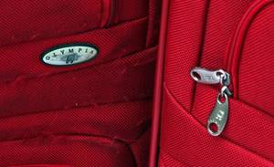 3 Red Suitcases Large Medium and Small