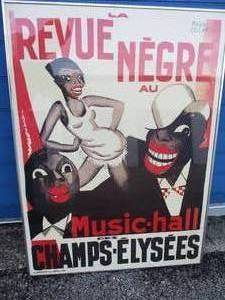 'La Revue Negre', Music Hall 1925 by Paul Colin-Paris, Framed Poster