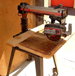 "Vintage Sears Craftsman 10"" Radial Arm Saw - 2.5 HP w/ stand"