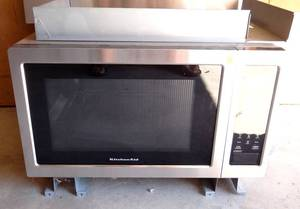 NEW - KitchenAid Microwave Oven with Convection. In wall unit with Stainless Cover
