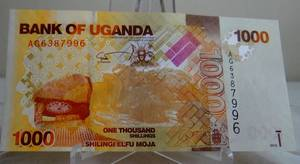 RARE - Bank of Uganda 1000 Shillings Shilingi 2010 - UNCIRCULATED EPQ P-49a (possible 64?)