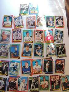 TOPPS 1990- Various Players and Teams. Cards 54-97. Not consecutive. 35 cards total. Very good condition, edges slightly worn