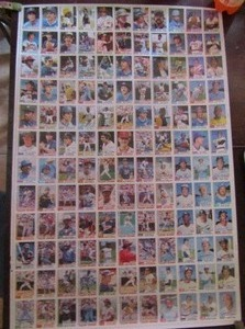 TOPPS UNCUT SHEET 1982  CONSISTS OF 132 CARDS  - BUCKY DENT, JOHNNY BENCH, MIKE SCHMIDT, AL COWENS & MORE !!!