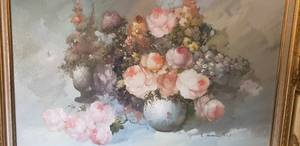 "Flowers Oil Painting (45""x33"" Approx.)"