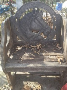 Rustic Wood Carved Horse Head Chair