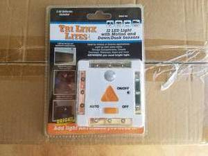 LYNX 12-LED LIGHT WITH MOTION AND DAWN/DUSK SENSORS – WHITE #00026
