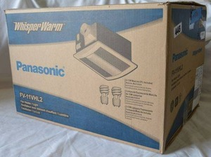 Panasonic Whisper Warm Fan Heater/Light, FV-11VHL2 (Unopened in Box)