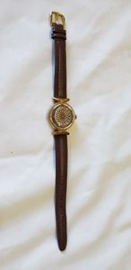 "Borel Kaleidoscope Watch, Backs reads ""Synchronous 17 Jewels"", with Leather Band"