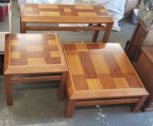 3-Piece Table Set of Lane Wooden Tables