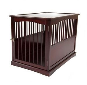 "Wood End Table Dog Crate - Size Large - 36"" L x 24"" W x 27.3"" H, $196.99 MSPR"