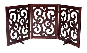 "35"" Folding Wood Pet Gate - Spans to 81"", MSRP $129.99"