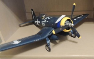 CORSAIR F4U Navy MODEL 24 x 22 x  7.25 H  Pilot in cockpit