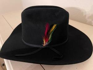 "Stetson Roper Black 6 7/8 with 4"" brim- in box NOT Sure it was every worn"