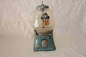 Vintage Teal MFG Co. American Gumball & Candy, Gumball Machine WITH KEY