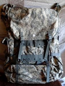 Military Camo Back Pack - Soft Padded Back Support - Appears Unused
