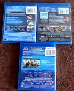 Lot of 3 BluRay DVDs.