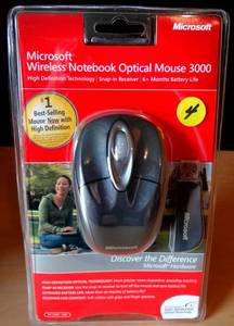 NEW & SEALED - Microsoft Wireless Notebook Optical Mouse 3000 BRAND NEW OEM Windows Mac USB