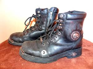 VINTAGE HARLEY DAVIDSON RIDING BOOTS - SIZE APPROX 9 1/2 - 10