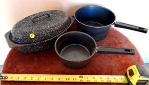 ASSORTMENT OF OUTDOOR COOKWARE IN GOOD CONDITION