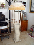 Victorian Wicker Floor Lamp