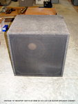 "VINTAGE 15"" WOOFER GUITAR SPEAKER BASS CABINET"