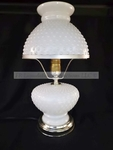Vintage style white glass parlor lamp